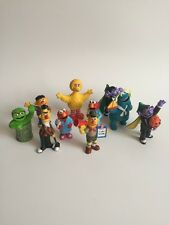 Vintage SESAME STREET  Plastic Collectibles Lot Of 10 Elmo Cookie Monster Set