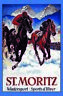 St. Moritz Wintersport Blechschild Schild gewölbt Metal Tin Sign 20 x 30 cm