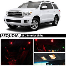 20x Red Interior Map Dome LED Lights Package Kit Fit 2008-2015 Toyota Sequoia
