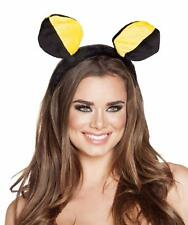 Bumble Bee Head Piece Headband Costume Antennae Two Toned Black Yellow Roma 4560