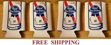 Pabst Blue Ribbon 4 Pbr Pounder 16oz Beer Can Coolers Koozie Coolie Huggie New