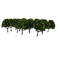 Lot 20 Yellow Fruits Tree Model Train Farm Orchard Diorama Scenery HO OO 6cm