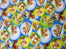 Berenstain Bears Character in circles  Moda Quilt Fabric by the 1/2 yd