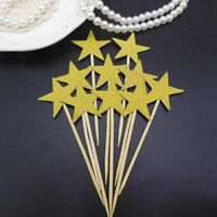Twinkle Little Star Cupcake Toppers Glitter Star Party Birthday Wedding Decor