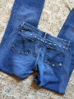 Guess Jeans Women's Designer Blue Jeans Size 31 Distressed Boot Cut Cute Jeans