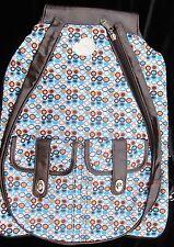 Whak Sak Backpack Tennis Laptop Sport Travel School Brown Dot 21 x 15 B137
