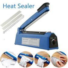 "8"" Hand Sealer Impulse Heat Manual Sealing Machine Plastic Poly Bag Closer Kit"