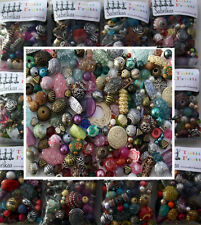 Job Lot Mixed bag of random Acrylic Jewellery Making Beads - 100g