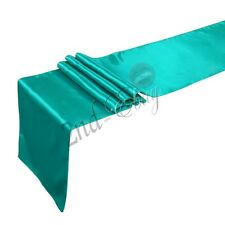 "12"" x 108"" Satin Table Runner Wedding Party Decorations For 24 Colors"