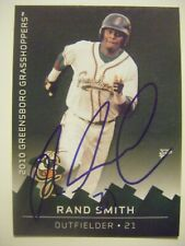 RAND SMITH signed 2010 GREENSBORO baseball card AUTO APPALACHIAN STATE BOONE NC