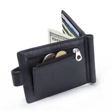 Vegan Leather Money Clip Men's Wallet Hasp Mini Purse Credit Card Coin Holder