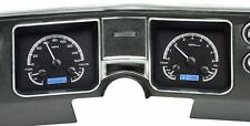 1968 Chevelle El Camino Dakota Digital Black Alloy & Blue VHX Analog Gauge Kit