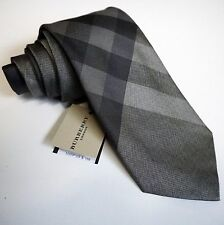 Burberry London Regent 'Mid Grey' Tie Brand New With Tag