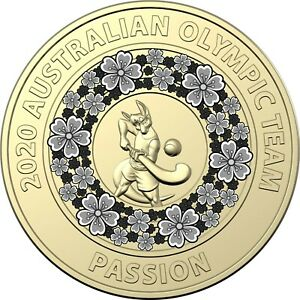 AUSTRALIA 2020 - Uncirculated - TOKYO Olympic GREY $2 coin PASSION