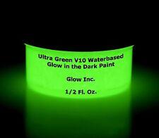 Ultra Green V10 Glow in the Dark Paint 1/2 Oz