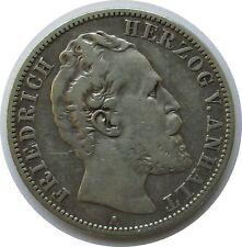 Kaiserreich 2 Mark 1876 A, Friedrich I Herzog von Anhalt, Jäger 19.