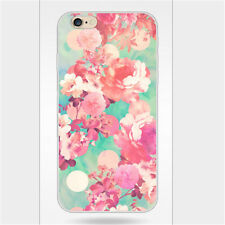 Vintage Style Floral Flower Pattern Cell Phone Case Cover For iPhone 5s 6s 6plus