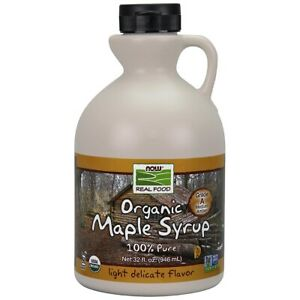 Now Foods Maple Syrup Grade A Amber Org 32oz Clearance EXP 02/2021