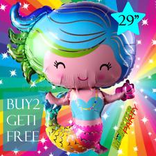 """29"""" MERMAID Centerpiece BALLOON balloons BIRTHDAY PARTY SUPPLY MERMAIDS Unicorn"""