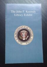 1960s Brochure Pamphlet ORIGINAL The John F. Kennedy Library Exhibit Great Cond!
