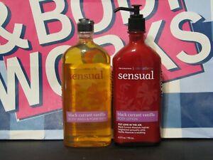 2 Bath Body Works Aromatherapy BLACK CURRANT VANILLA Lotion WASH FOAM BATH bbw