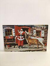 North Pole New York~Santa's Workshop House~Santa Feeds Pet Reindeer~1970s PC