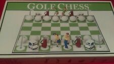 Golf clubs themed Chess set board game by big league promotionsVintage  2001