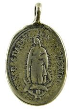 OUR LADY OF GUADALUPE Medal, bronze, cast from 19th c. antique Mexican original