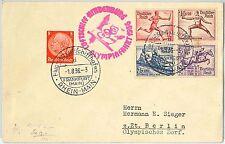 57899 - GERMANY - POSTAL HISTORY  1936 OLYMPIC GAMES - Hindenburg Zeppelin