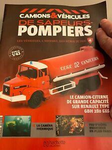 HACHETTE 1/43 SAPEURS POMPIERS N° 4 Le Camion Citerne Berliet GBH 280 6*6