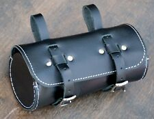 Black Leather Bike Saddle TOOL BAG Q Fixies Vintage Schwinn Cruiser Bicycle Seat