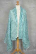 New PEACE OF MIND green geometric pashmina scarf Made In India