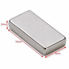10pcs block 10*5*2mm permanent super strong N52 rare earth neodymium magnets
