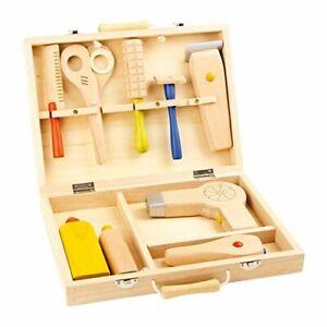 Small Foot 5845 malette de coiffure jouets en bois jeu complet d'accessoires ...