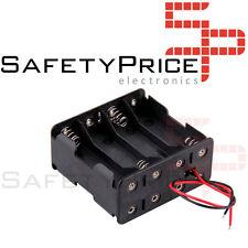 Portapilas 8x AA Porta 8 Pilas 12V Battery holder R6 LR06 4+4 España