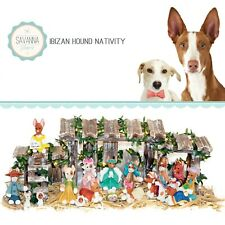 Savannashops Dog Nativity Ibizan Hound Gifts - Nativity Sets - Dog Lover Gifts