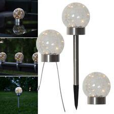 3in1 Solar LED Balkon-Leuchte Micro Leds Blanco Cálido Bola Lámpara de Mesa