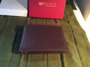 Bosca Leather Mens Wallet  New With Tags And Gift Box