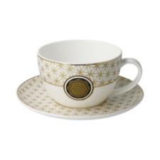 Goebel Lotus Blume des Lebens  Tee/Cappuccinotasse Echtgoldauflage Neuheit 2020
