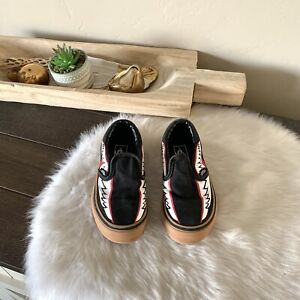 VANS Classic Slip On Shoes Toddler Wing Abstract Sneakers 11 US 27.5 EU