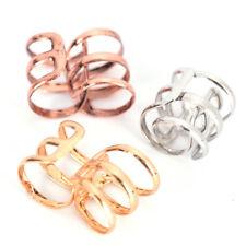 2x Dreadlock Beads Tube Ring for Braids Hair Beads Adjustable Braid Cuff BT