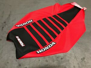 Honda TRX450R TRX 450 R Seat Cover 2004-2018 Red / Black / Red Ribs #197