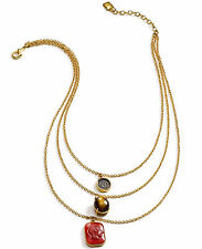 NWT Lauren Ralph Lauren 'Endless Stones' Layered Chain Pendant Necklace $68