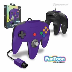 Wired N64 Controller for NINTENDO 64 System - Rival Purple