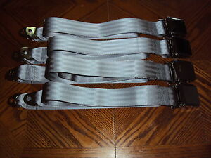 Buick Chevrolet GM Pontiac Oldsmobile Car Truck Rat Hot Rod GRAY Seat Belts USA