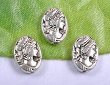 FREE SHIP 50pcs tibetan silver beautiful girl charm spacer beads 14MM SH833