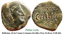 Año 80 A.C. Carmo. Carmona (Sevilla). BONITO Semis Bronce. Peso 13,46 gr. 27 mm.