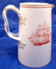 Copeland Spode Red Trade Winds 24 oz 6 in Jug Pitcher
