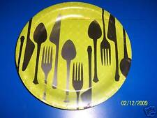 "DesignWare Dinner Hour Cutlery Spoon Fork knife Party Green 9"" Dinner Plates"