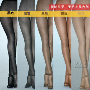 1/6 Ultra-thin Stockings Pantyhose Clothes Toy Fit 12'' Female TBL PH JO Body